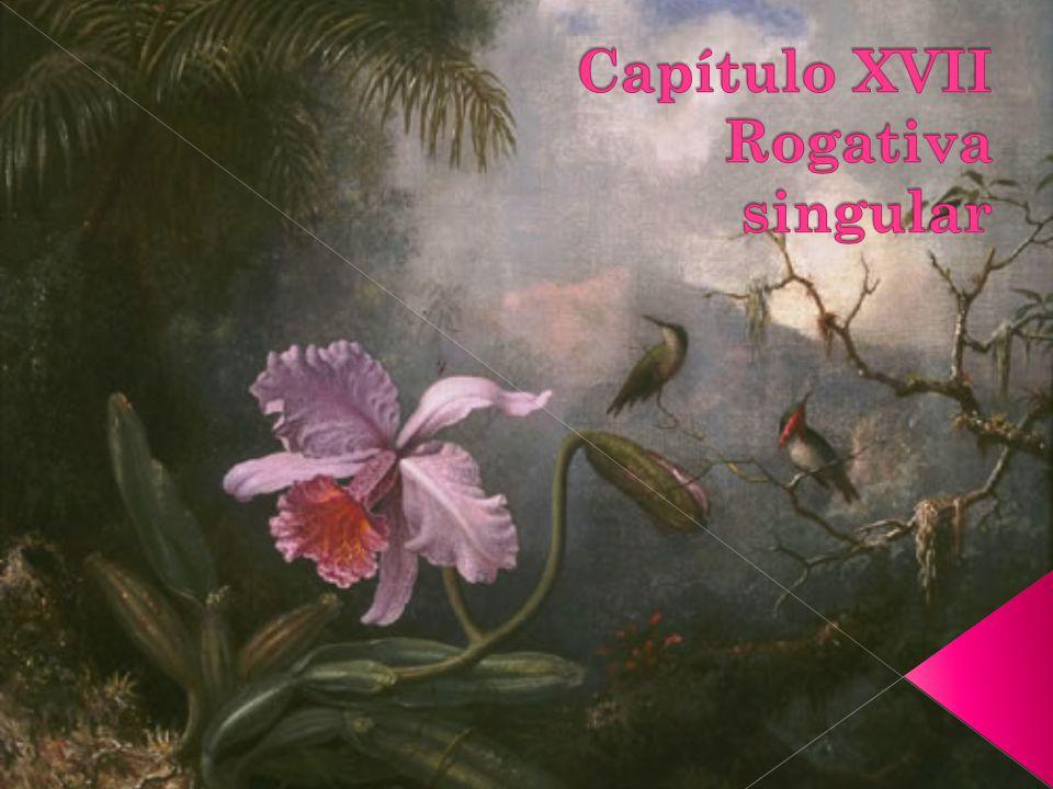 Capítulo XVII Rogativa singular