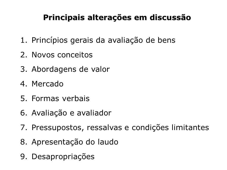 Principais alterações em discussão