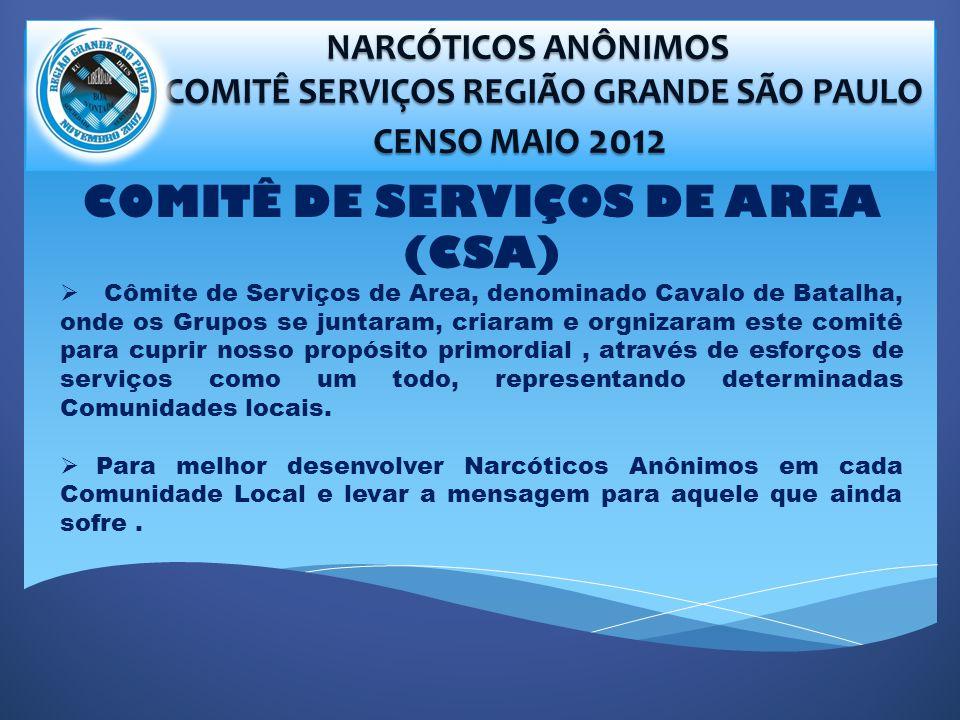 COMITÊ SERVIÇOS REGIÃO GRANDE SÃO PAULO COMITÊ DE SERVIÇOS DE AREA