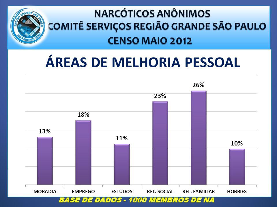 COMITÊ SERVIÇOS REGIÃO GRANDE SÃO PAULO ÁREAS DE MELHORIA PESSOAL