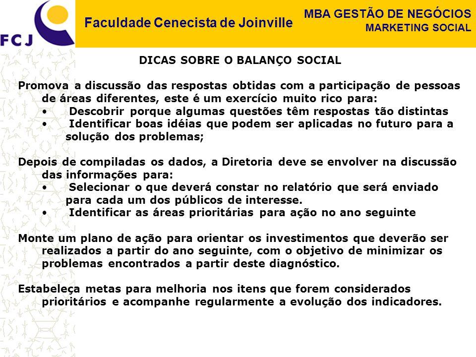 DICAS SOBRE O BALANÇO SOCIAL