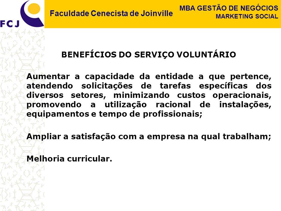 BENEFÍCIOS DO SERVIÇO VOLUNTÁRIO
