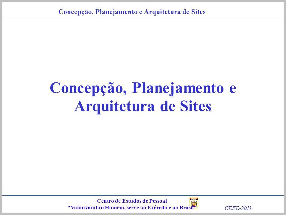 Concepção, Planejamento e Arquitetura de Sites