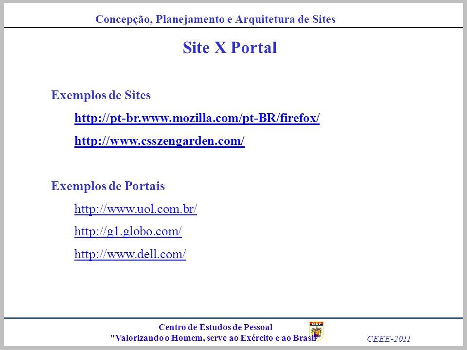 Site X Portal Exemplos de Sites