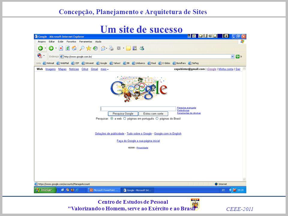 Um site de sucesso Centro de Estudos de Pessoal
