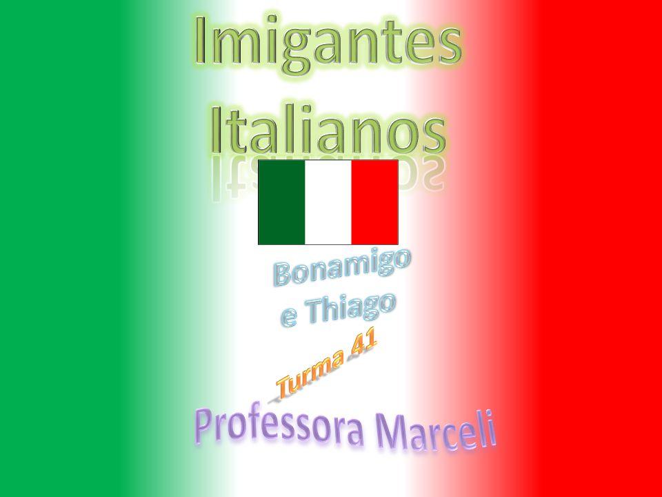 Imigantes Italianos Bonamigo e Thiago Turma 41 Professora Marceli