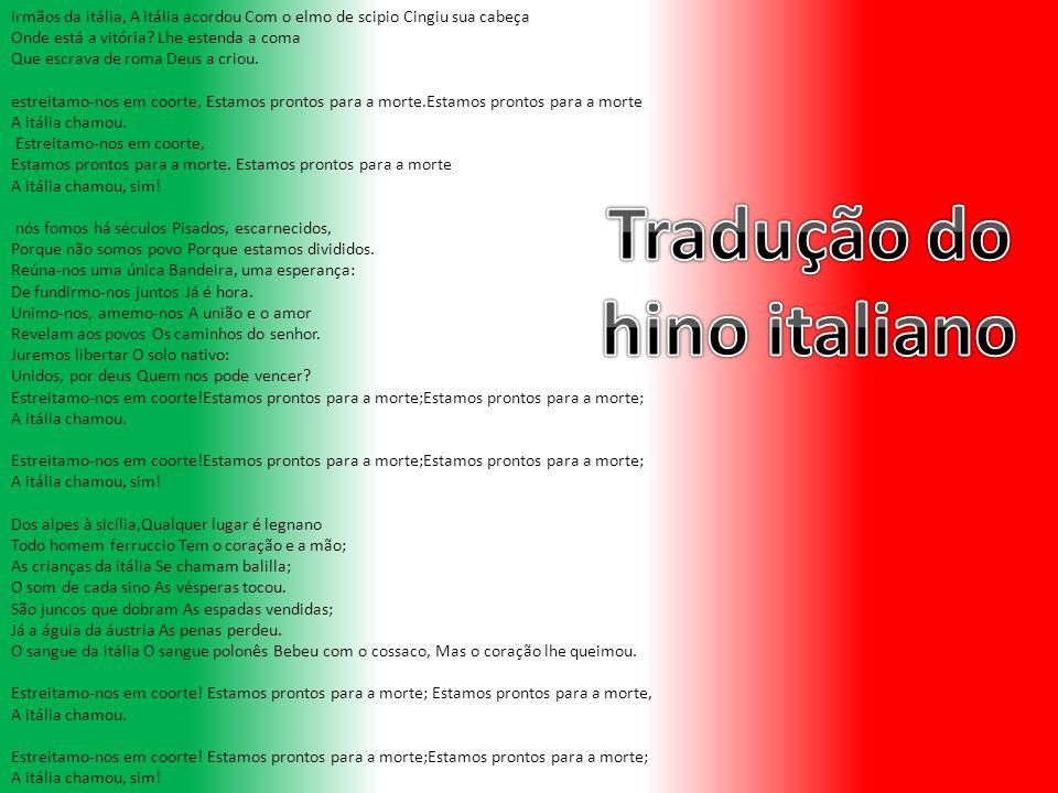 Tradução do hino italiano