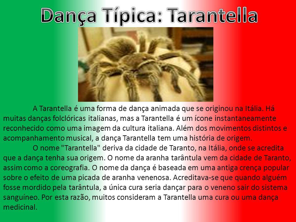 Dança Típica: Tarantella