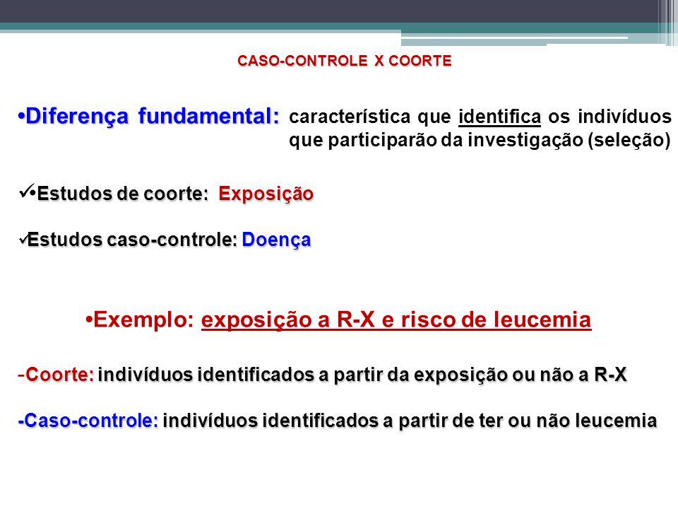 CASO-CONTROLE X COORTE