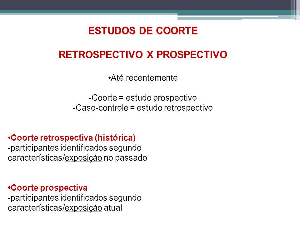 RETROSPECTIVO X PROSPECTIVO