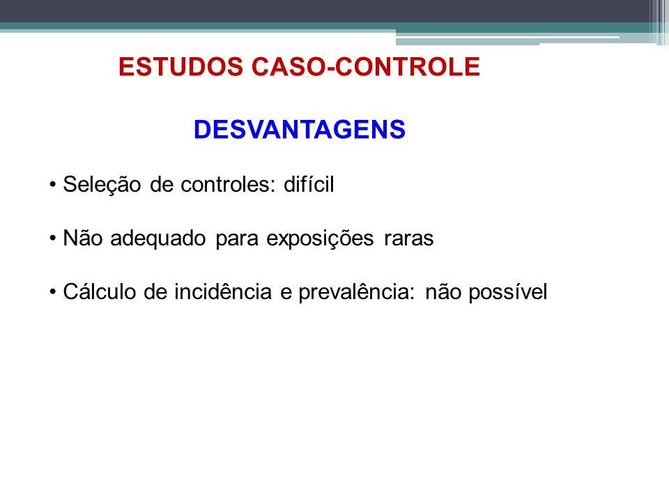 ESTUDOS CASO-CONTROLE