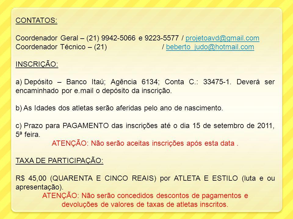 Coordenador Geral – (21) 9942-5066 e 9223-5577 / projetoavd@gmail.com