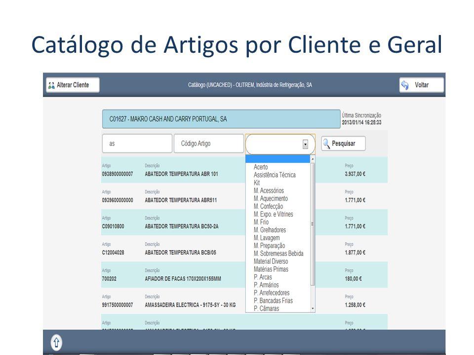 Catálogo de Artigos por Cliente e Geral