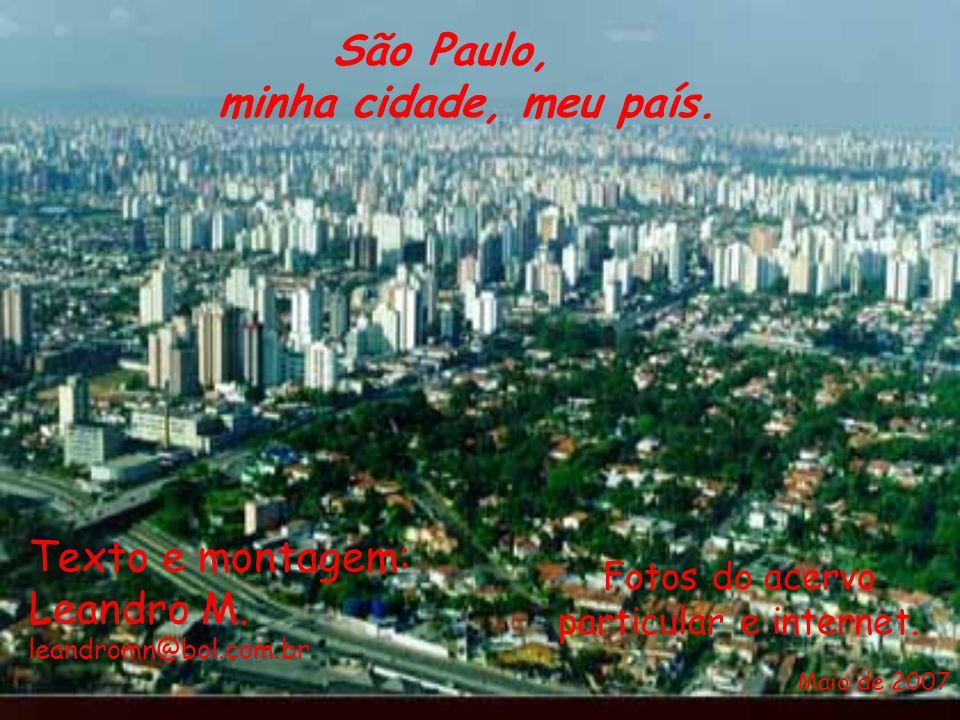 São Paulo, minha cidade, meu país. Texto e montagem: Leandro M.