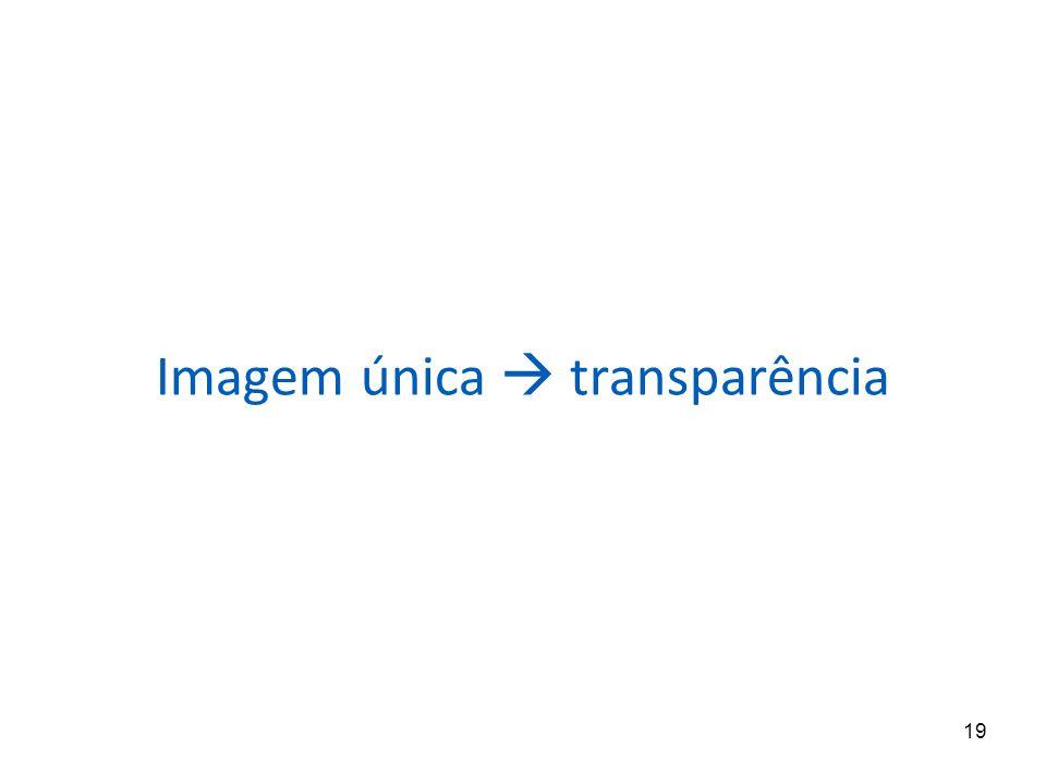 Imagem única  transparência
