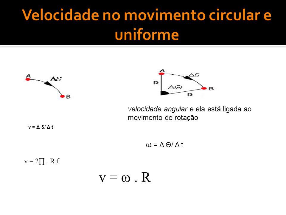 Velocidade no movimento circular e uniforme