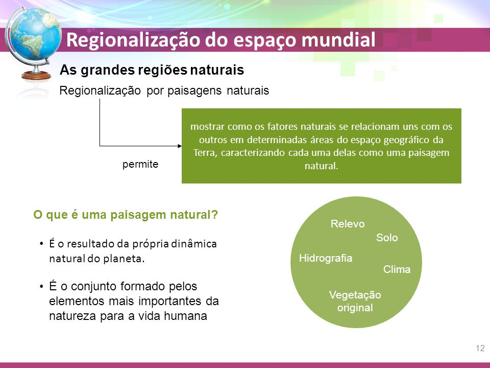 As grandes regiões naturais