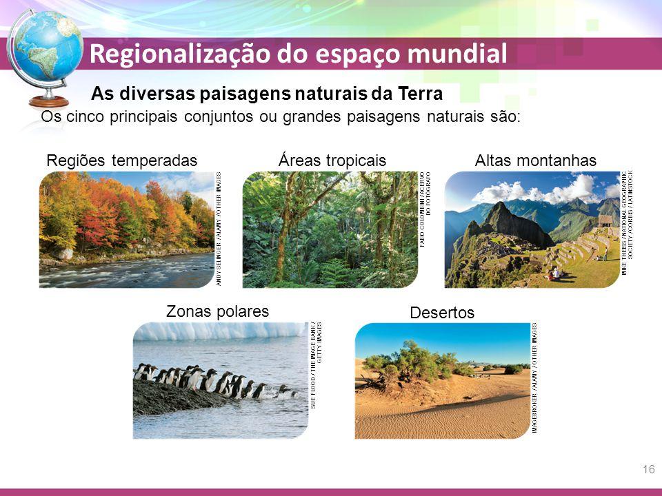 As diversas paisagens naturais da Terra