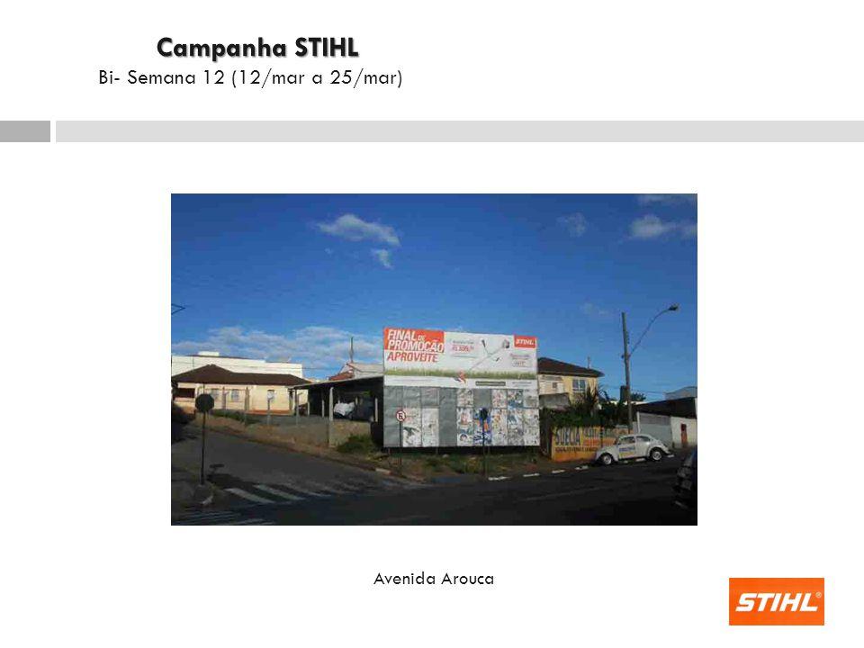 Campanha STIHL Bi- Semana 12 (12/mar a 25/mar) Avenida Arouca