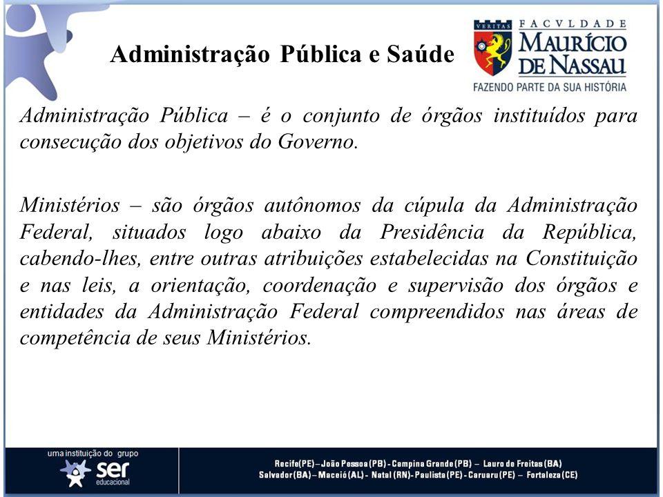 Administração Pública e Saúde