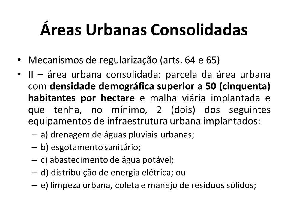 Áreas Urbanas Consolidadas