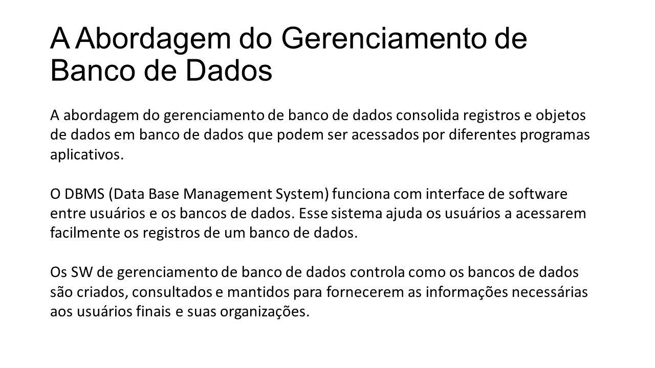 A Abordagem do Gerenciamento de Banco de Dados