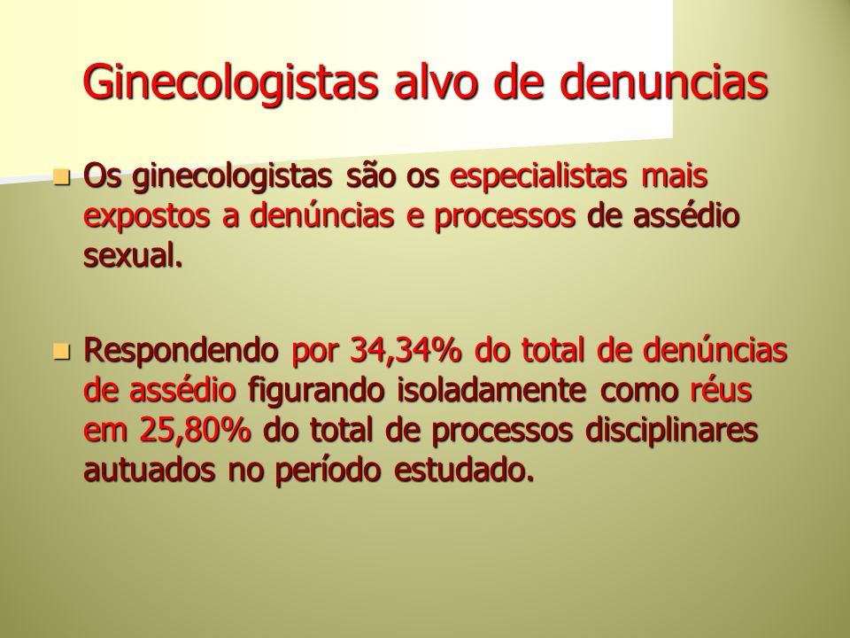 Ginecologistas alvo de denuncias