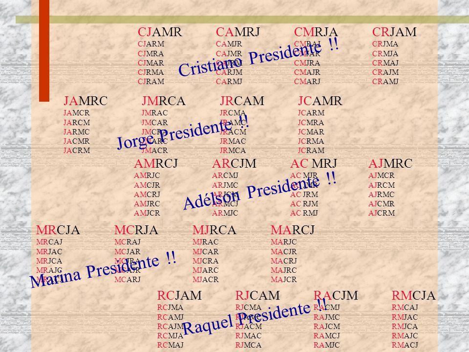 Cristiano Presidente !! Jorge Presidente !! Adélson Presidente !!