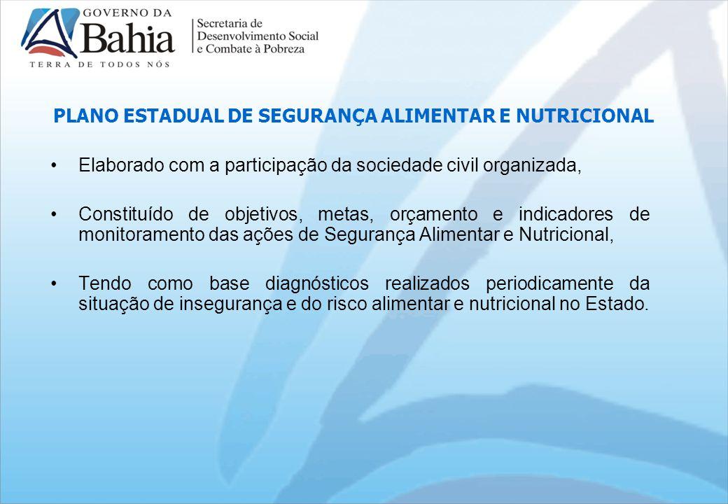 PLANO ESTADUAL DE SEGURANÇA ALIMENTAR E NUTRICIONAL