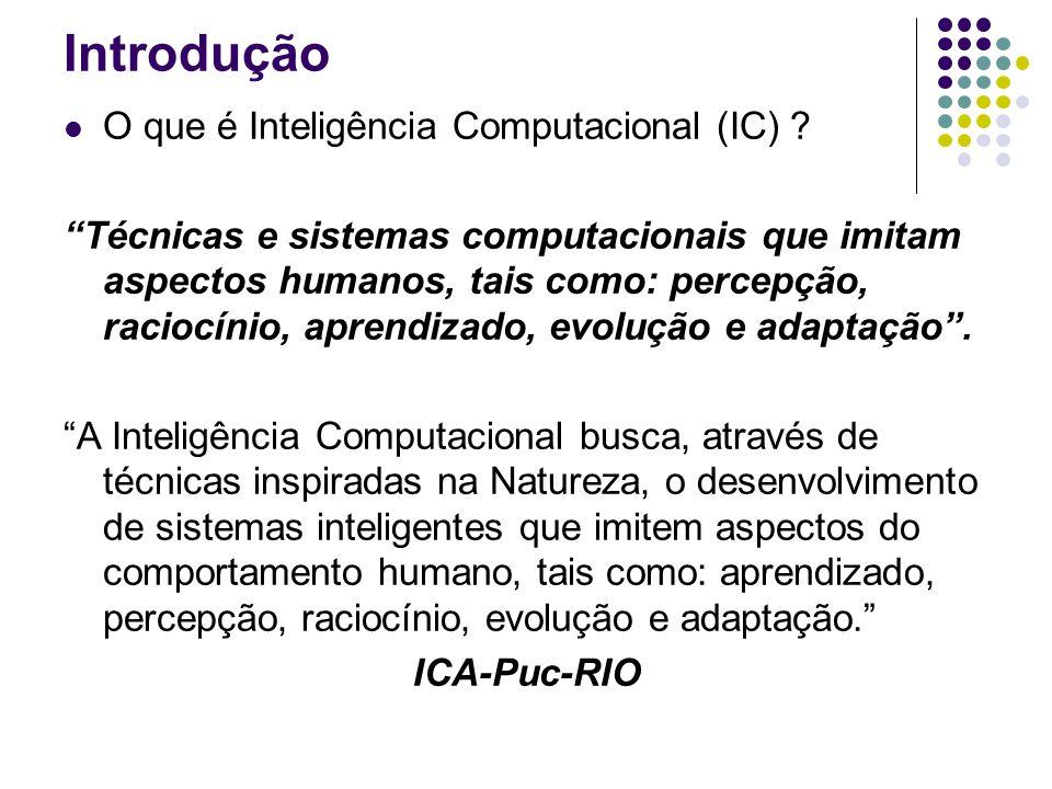 Introdução O que é Inteligência Computacional (IC)