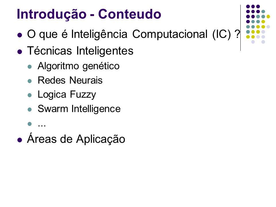 Introdução - Conteudo O que é Inteligência Computacional (IC)