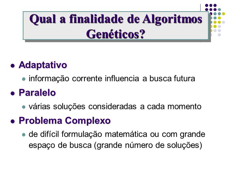 Qual a finalidade de Algoritmos Genéticos