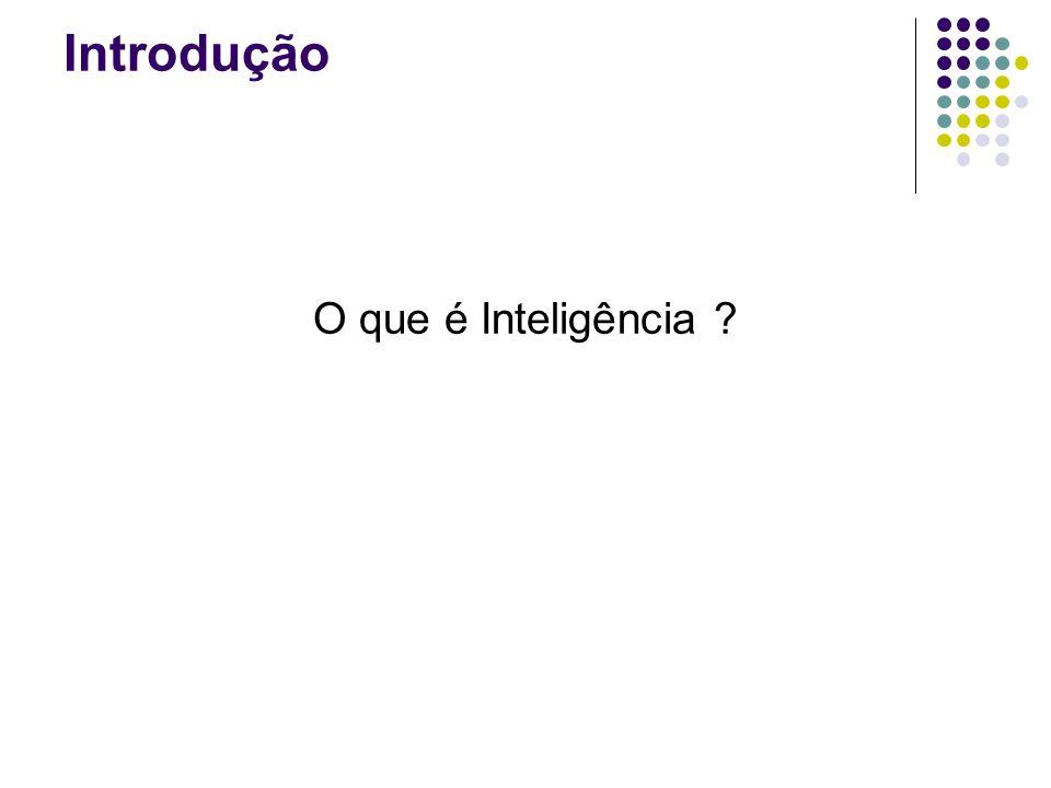 Introdução O que é Inteligência