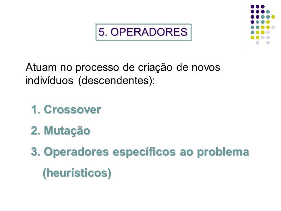 3. Operadores específicos ao problema (heurísticos)