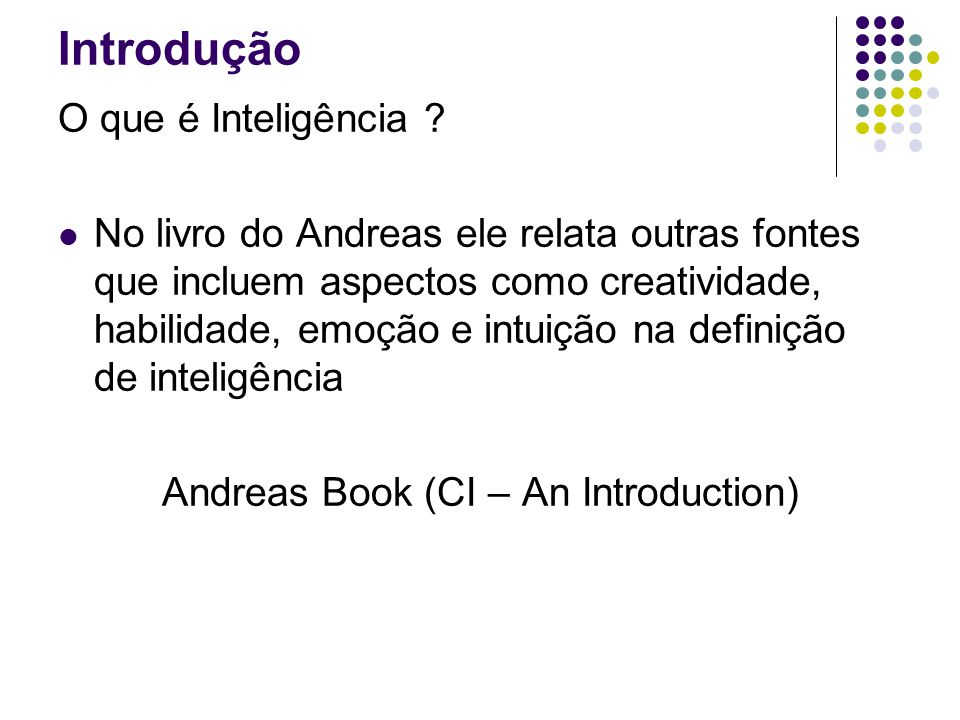 Andreas Book (CI – An Introduction)