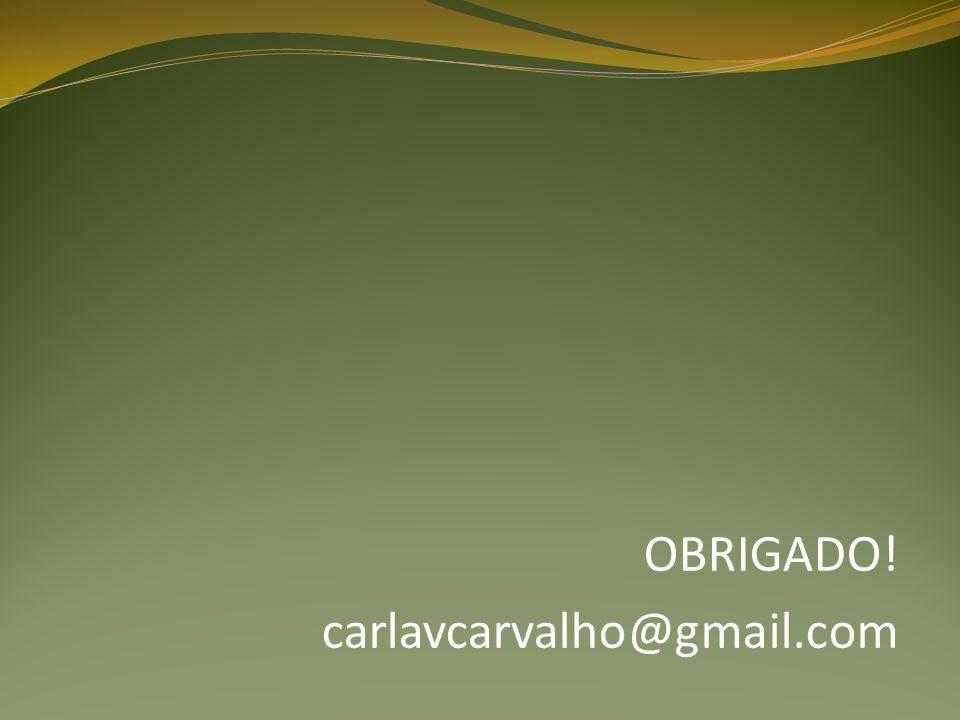 OBRIGADO! carlavcarvalho@gmail.com
