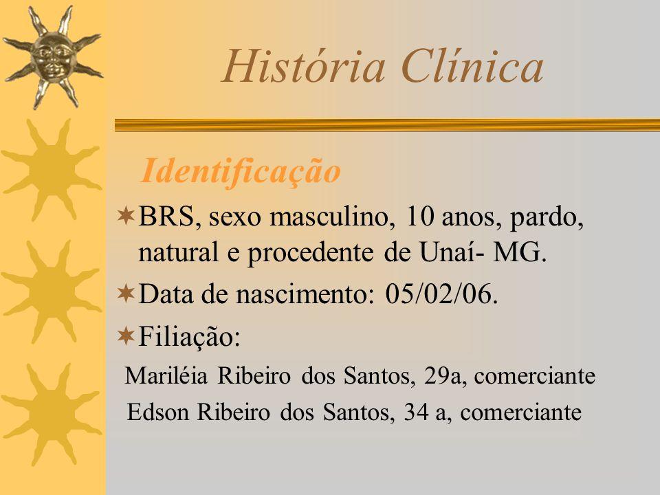 História Clínica Identificação