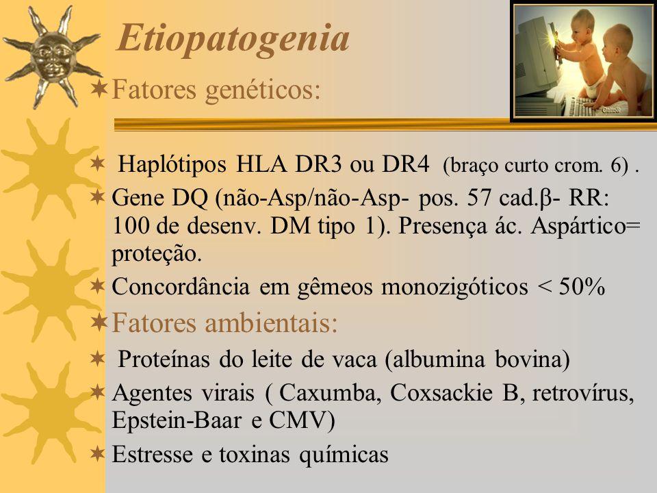 Etiopatogenia Fatores genéticos: Fatores ambientais: