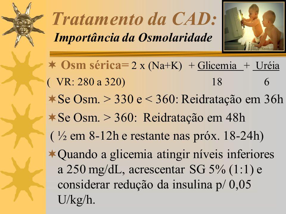 Tratamento da CAD: Importância da Osmolaridade