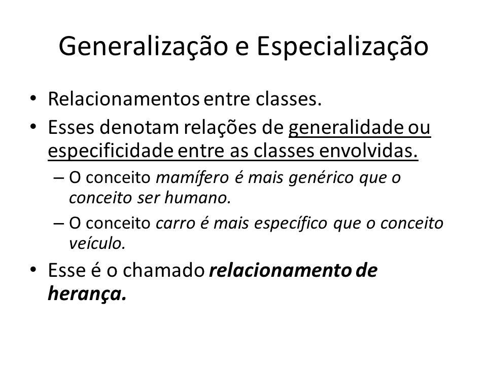 Generalização e Especialização