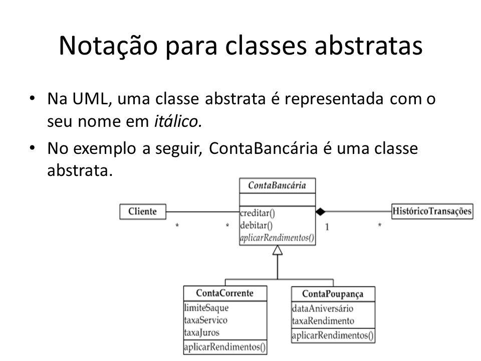 Notação para classes abstratas