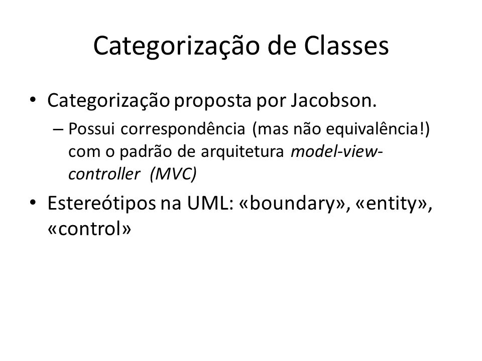 Categorização de Classes