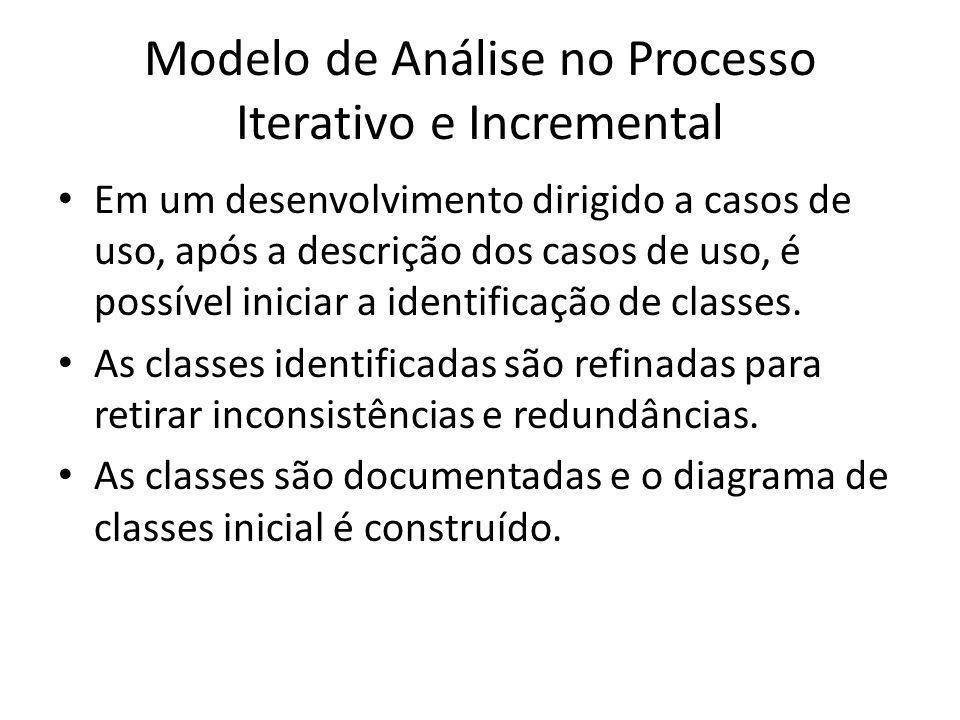 Modelo de Análise no Processo Iterativo e Incremental