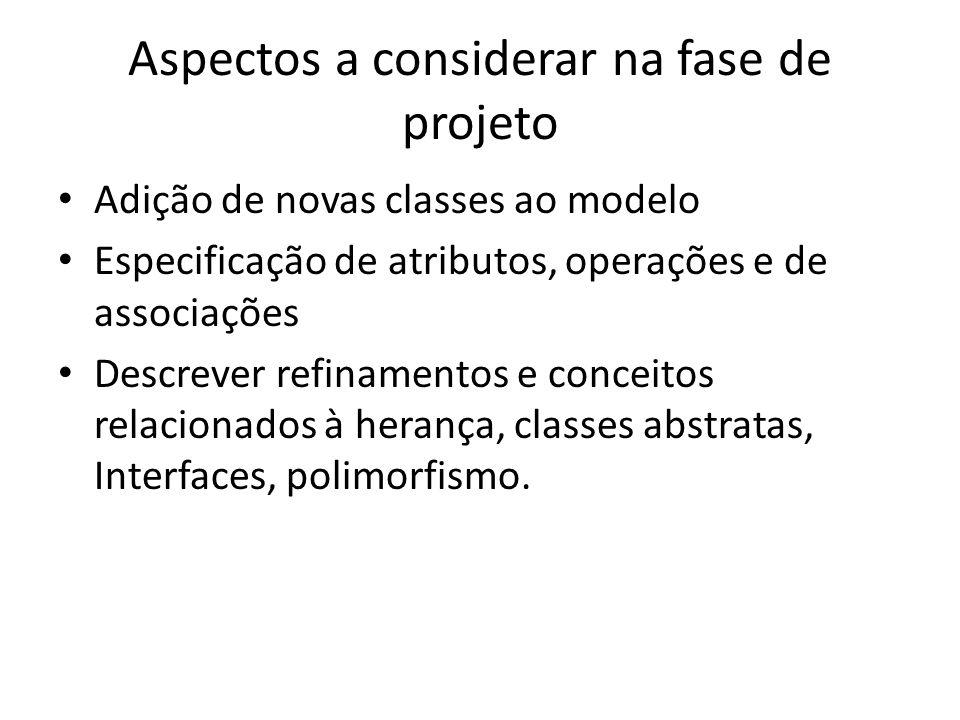 Aspectos a considerar na fase de projeto