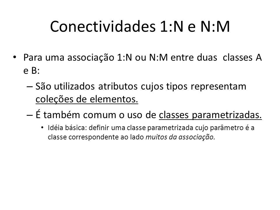 Conectividades 1:N e N:M
