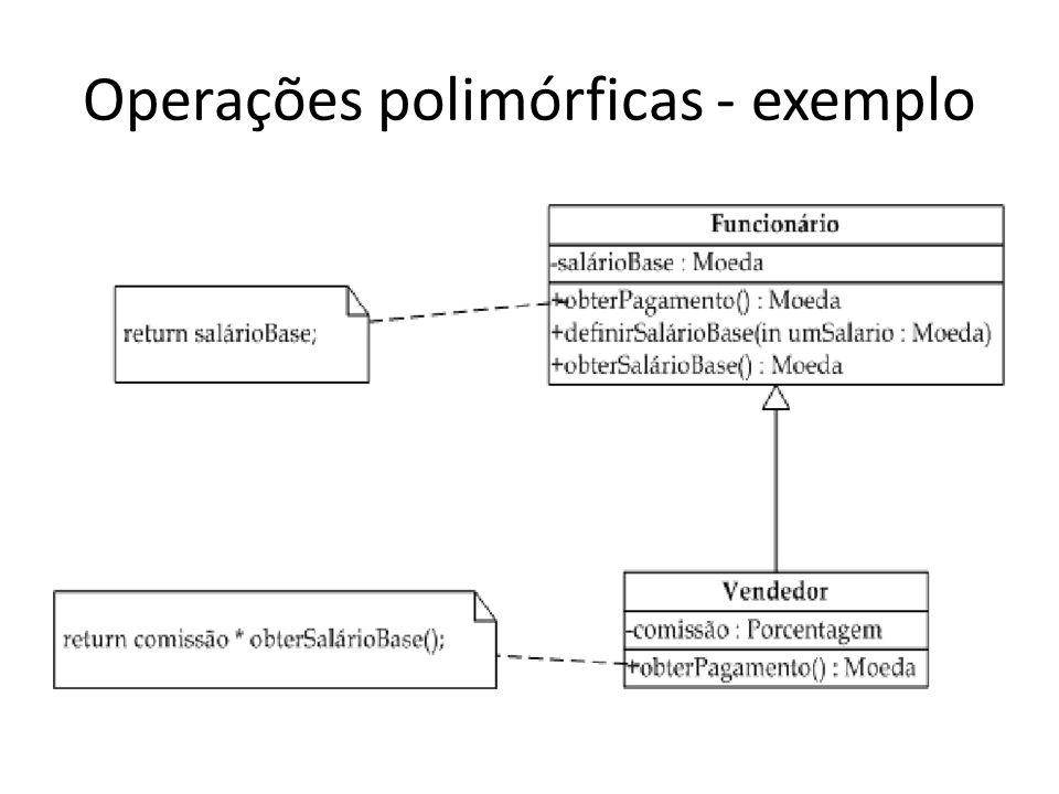 Operações polimórficas - exemplo