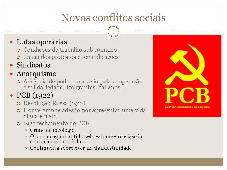 Novos conflitos sociais
