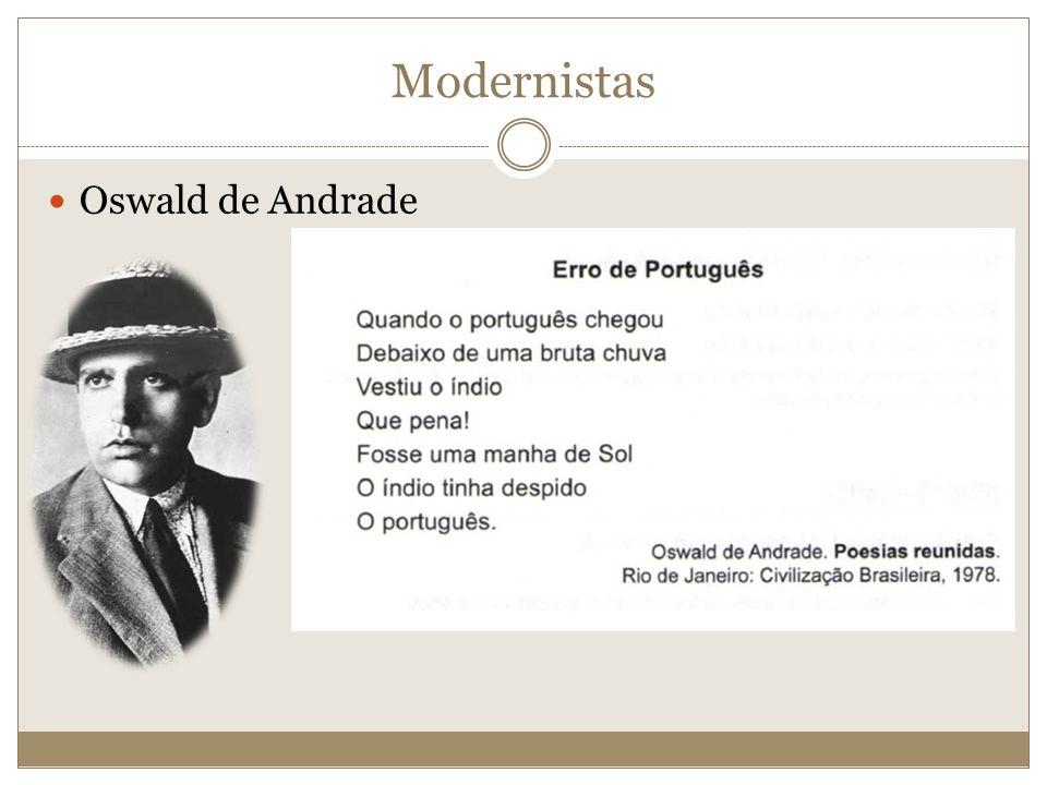Modernistas Oswald de Andrade
