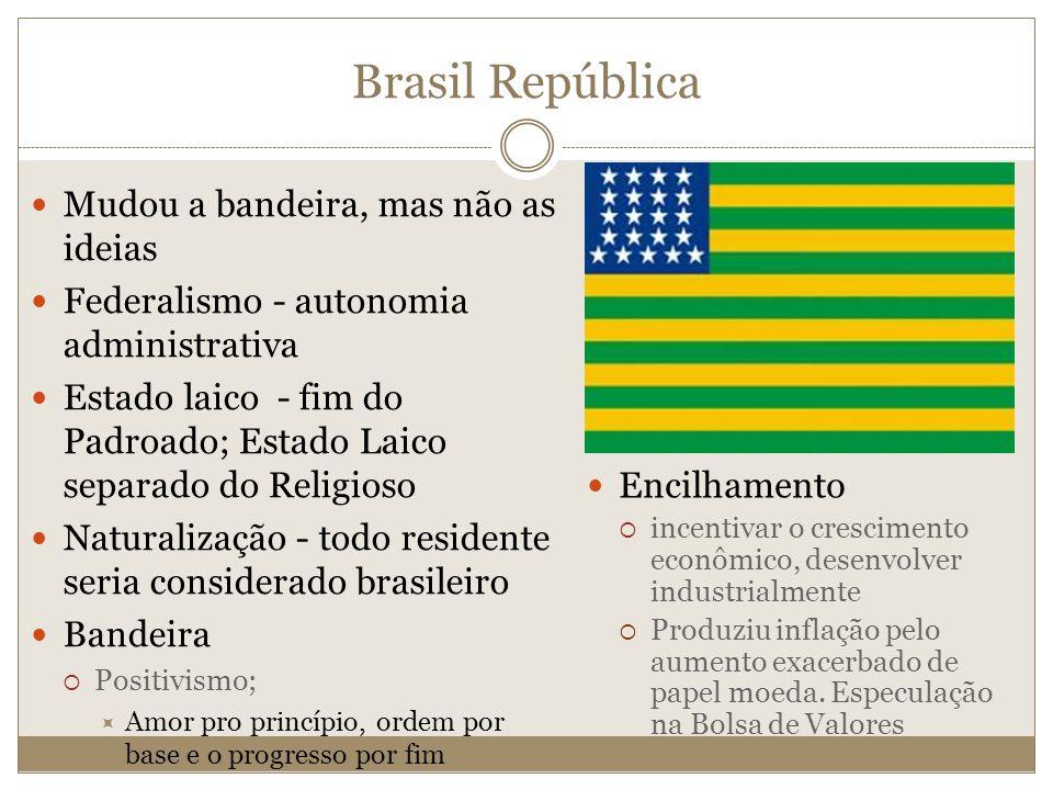 Brasil República Mudou a bandeira, mas não as ideias
