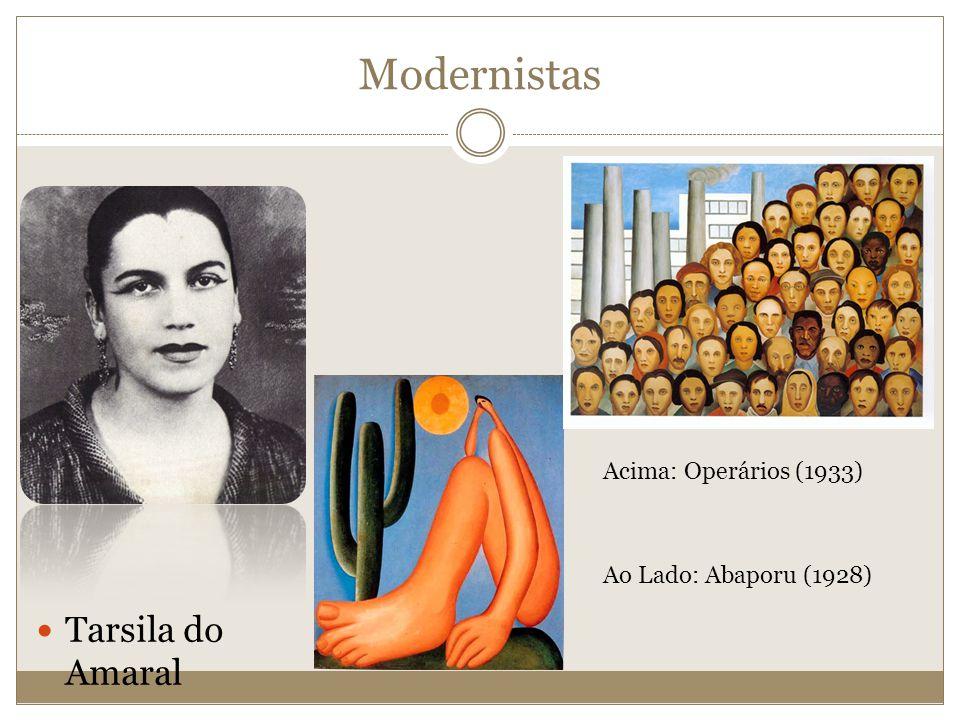 Modernistas Tarsila do Amaral Acima: Operários (1933)